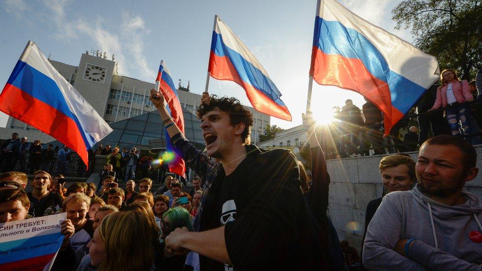 У Росії проходять акції на підтримку Навального