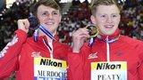Adam Peaty (right) with bronze medallist Ross Murdoch
