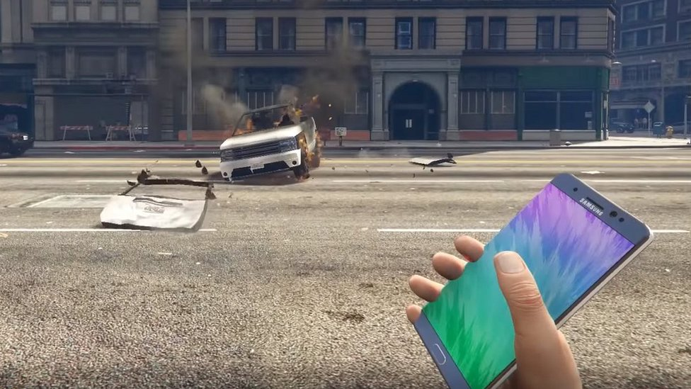 Samsung 'blocks' exploding Note 7 parody videos