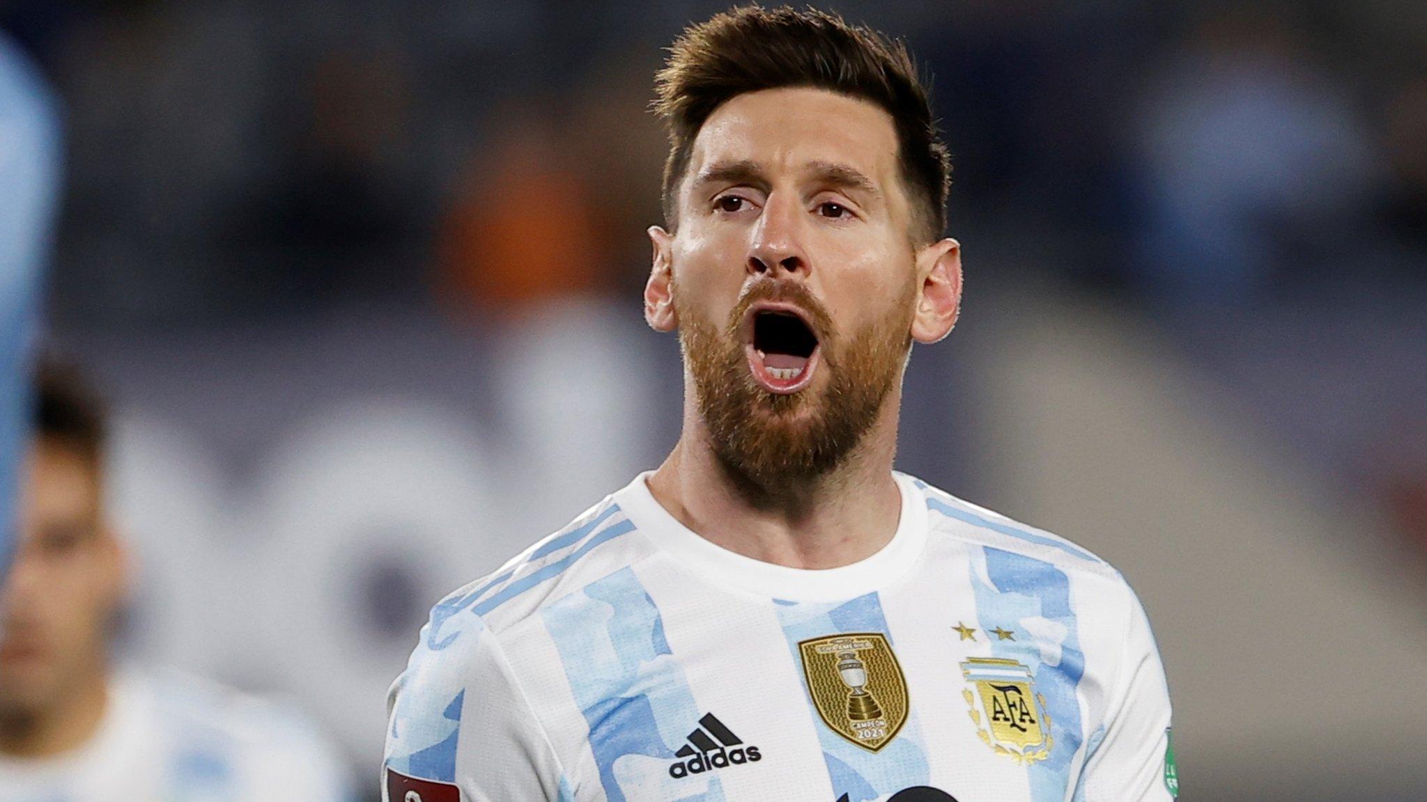 Argentina v3-0 Uruguay: Lionel Messi ya ci wa Argentina kwallo 80 - BBC  News Hausa