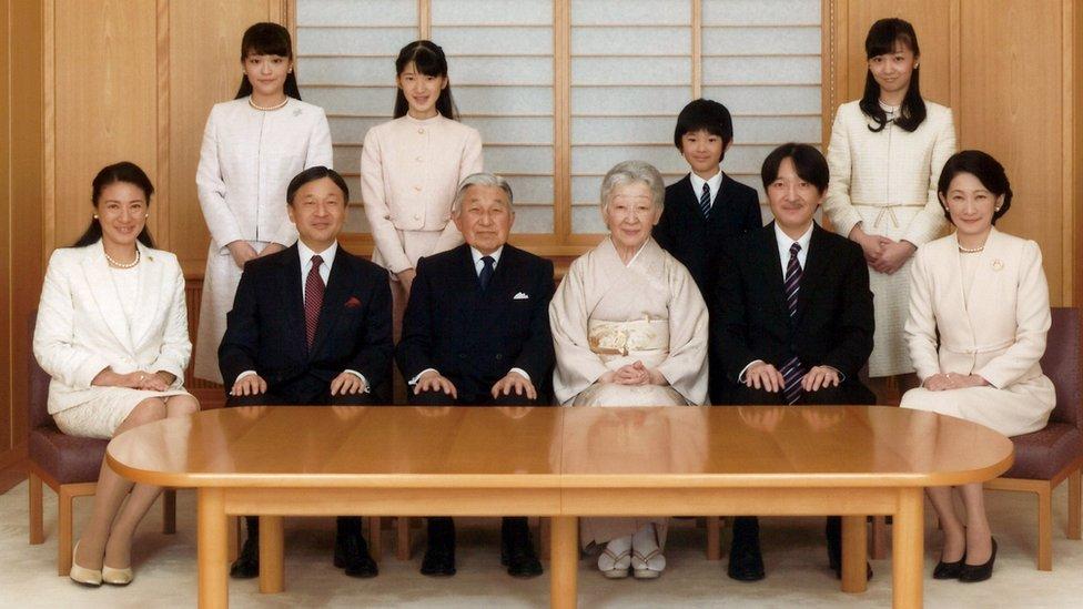 日本天皇明仁和皇室成員
