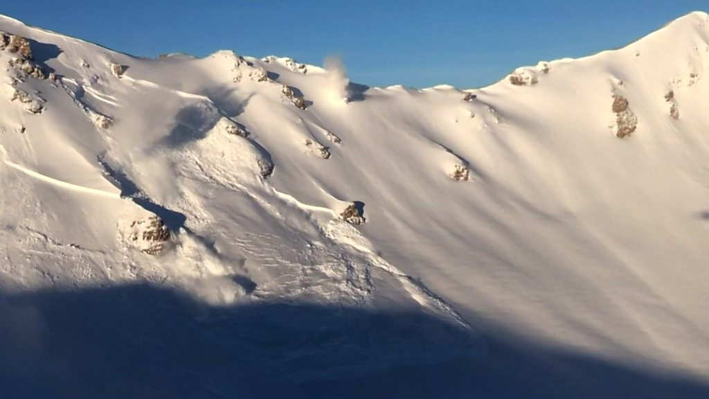 Explosives trigger controlled avalanches in Swiss Alps