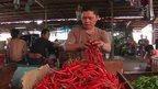 Chillis in a Jakarta market