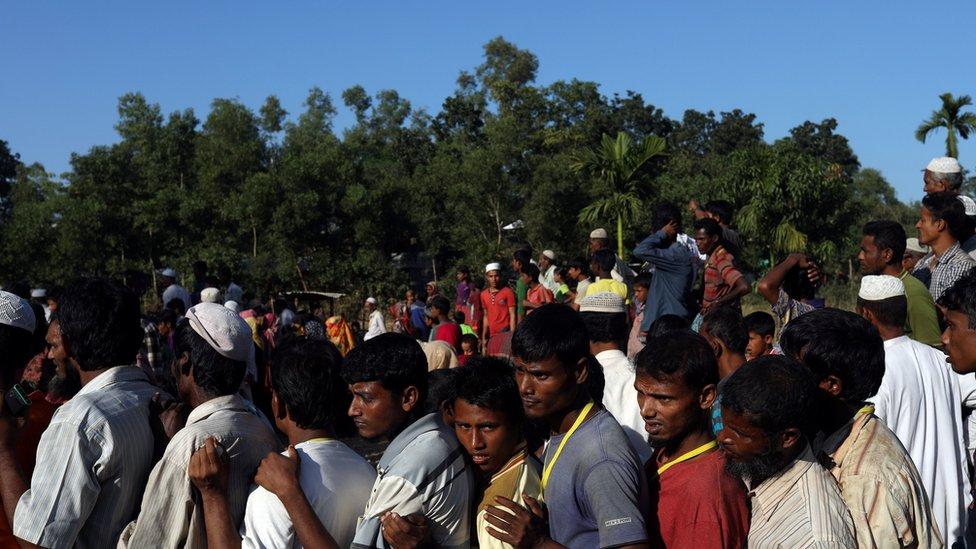 آوارگان روهینگیایی در مخالفت با بازگشت به میانمار تظاهرات کردند