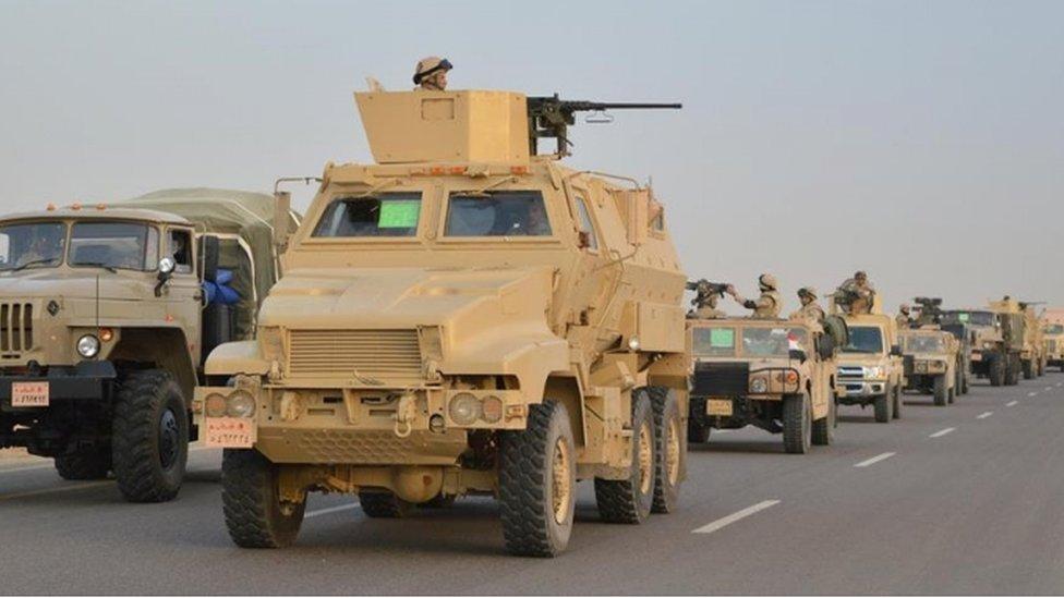 مركبات عسكرية في سيناء