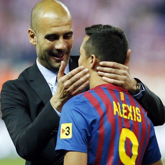 Guardiola y Alexis