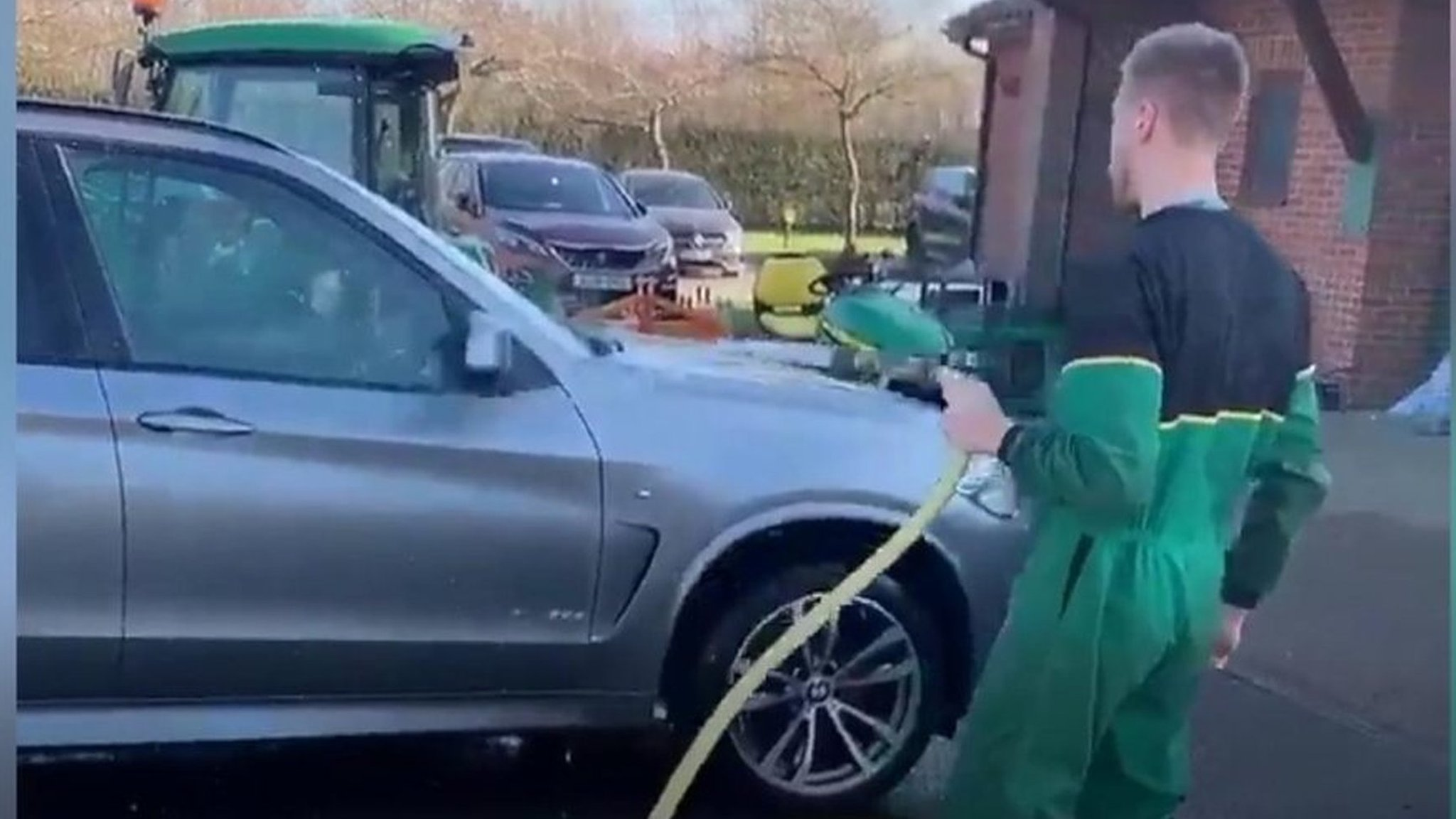 finest selection 2447a 4eb6f Norwich City  Marco Stiepermann cleans Daniel Farke s car - Midfielder  Marco Stiepermann took the chance to avoid a £50 fine by spinning a wheel  of chance.