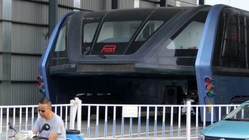 China's 'straddling bus' hits its final roadblock