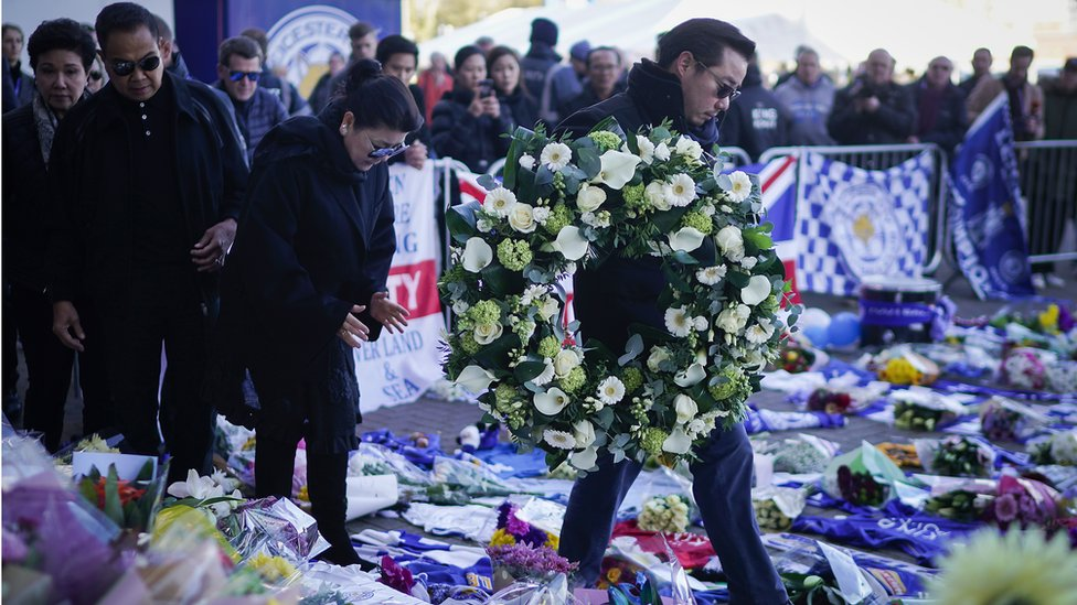 Leicester City helicopter crash: Book of condolence opens