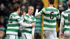Leigh Griffiths celebrates his 30th goal of the season