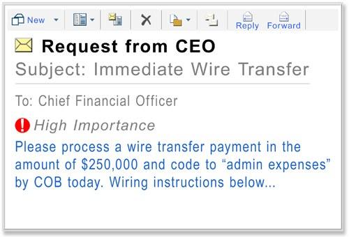 """Suele tratarse de un solo email """"importante"""" en el que se pide un pago urgente., dice el FBI."""