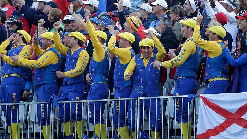 Ryder Cup 2016: Friday's fine shots and fun fans