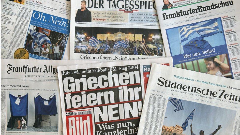 Selection of German newspapers