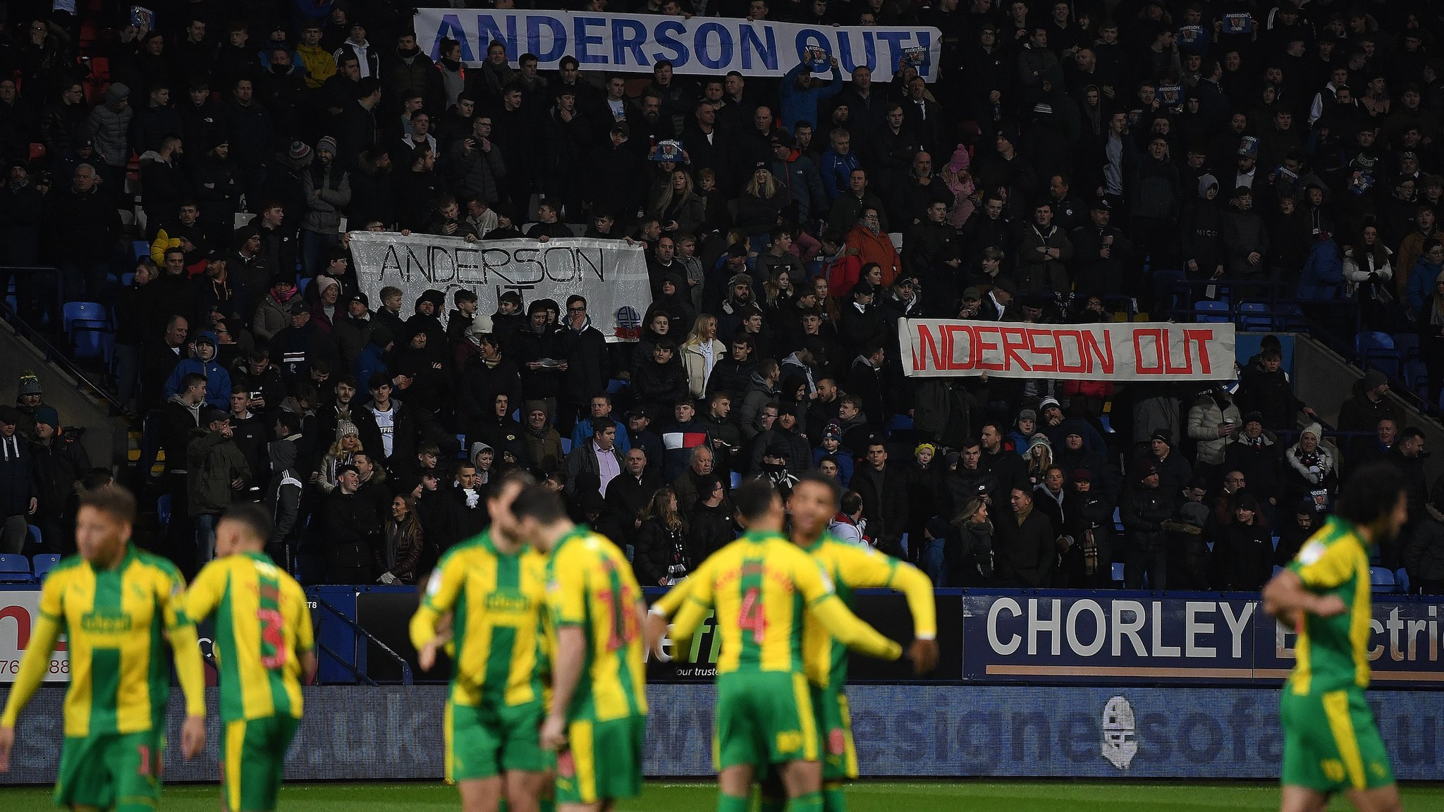 Bolton 0-2 West Brom: Baggies win as home fans protest