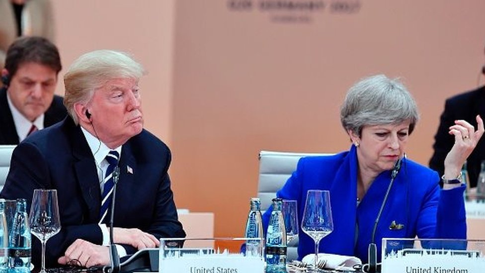 Theresa May contredit Trump