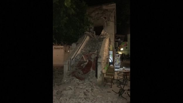 На греческом острове Кос два человека погибли в результате землетрясения