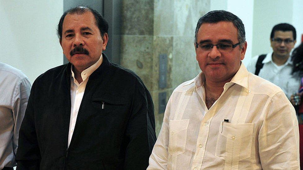 Daniel ortega y Mauricio Funes.