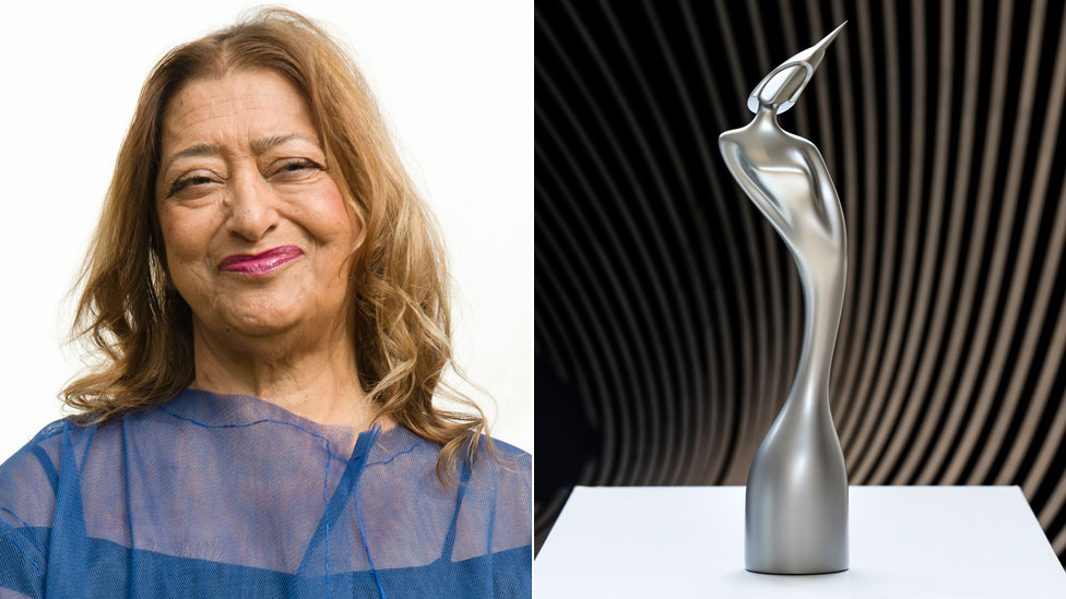 Dame Zaha Hadid's Brits statue unveiled