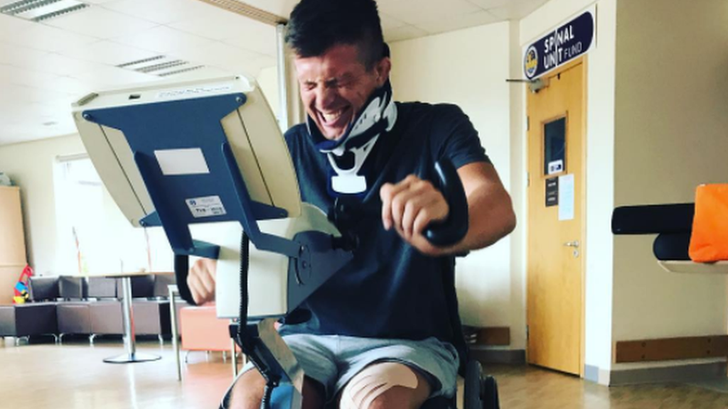 'The biggest elation was seeing my toe wiggle' - Ed Jackson fights to walk again