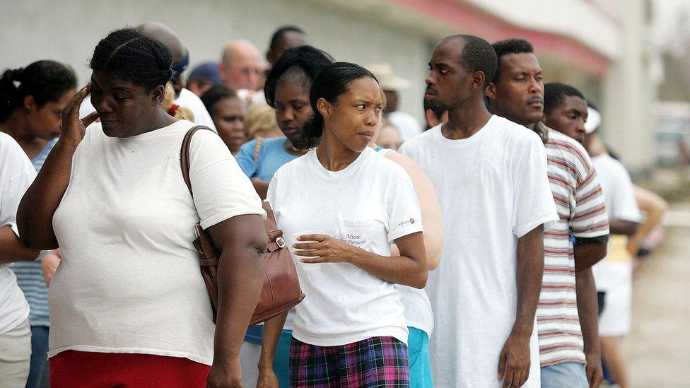Gente en fila