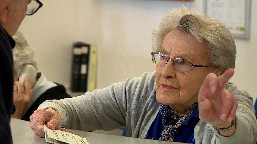 The 90-year-old hospital volunteer