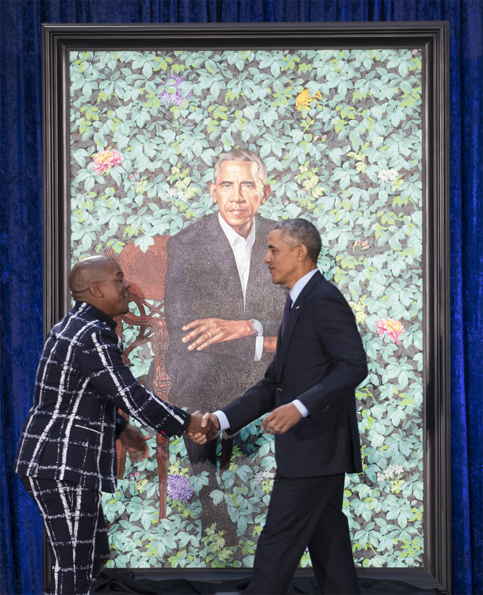 Kehinde Riley y Barack Obama