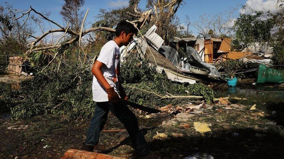 Naples, en la costa oeste de Florida, es otra de las localidades de la costa oeste de Florida que registró daños.
