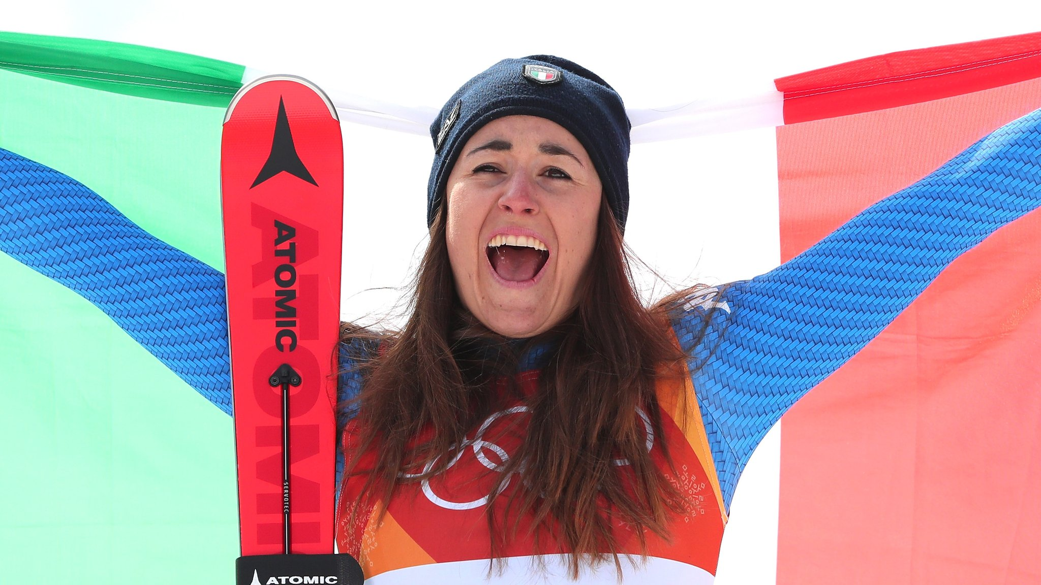 Winter Olympics: Sofia Goggia beats Lindsey Vonn to become Italy's first female downhill champion