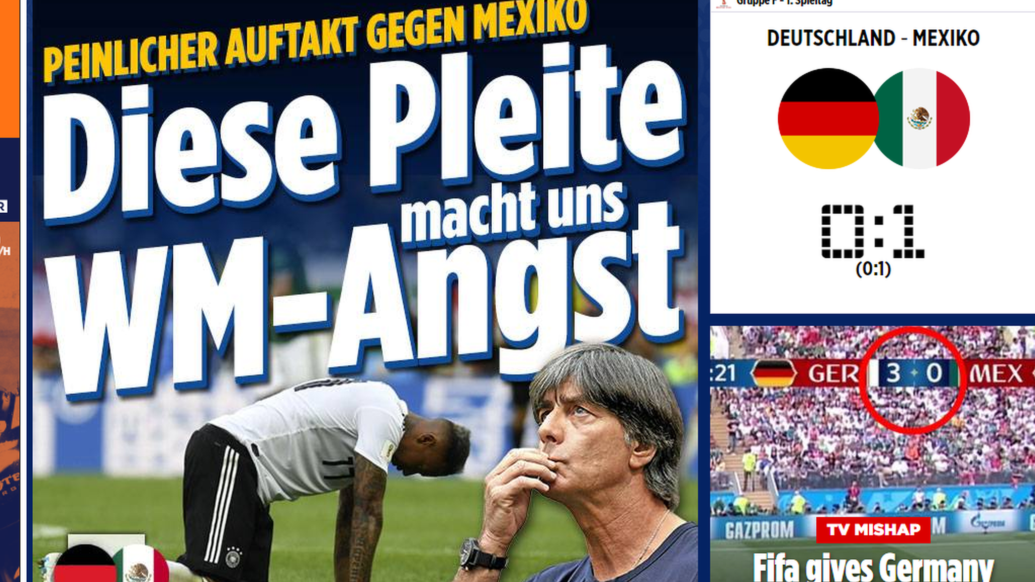 World Cup 2018: Germany 'crestfallen' as shock Mexico defeat is called 'embarrassing'