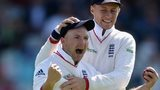 Joe Root and Adam Lyth celebrate