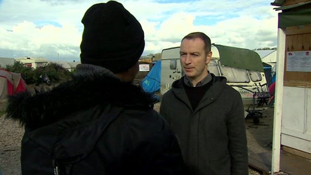 Calais migrant: 'I will not move one inch from here'