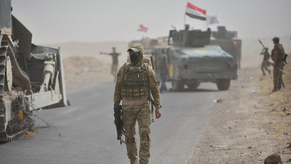 قوات عراقية قرب كركوك