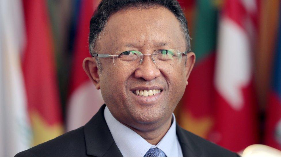 Madagascan President Hery Rajaonarimampianina