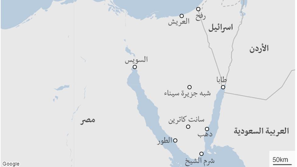 خريطة سيناء