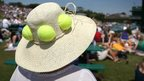 Tennis ball hat