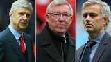 Arsene Wenger, Sir Alex Ferguson and Jose Mourinho