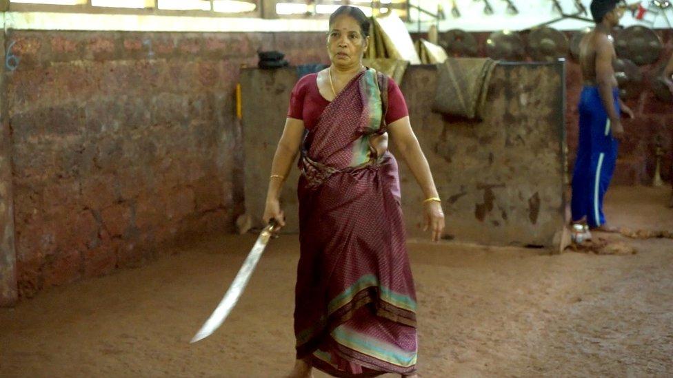 Sword-fighting granny