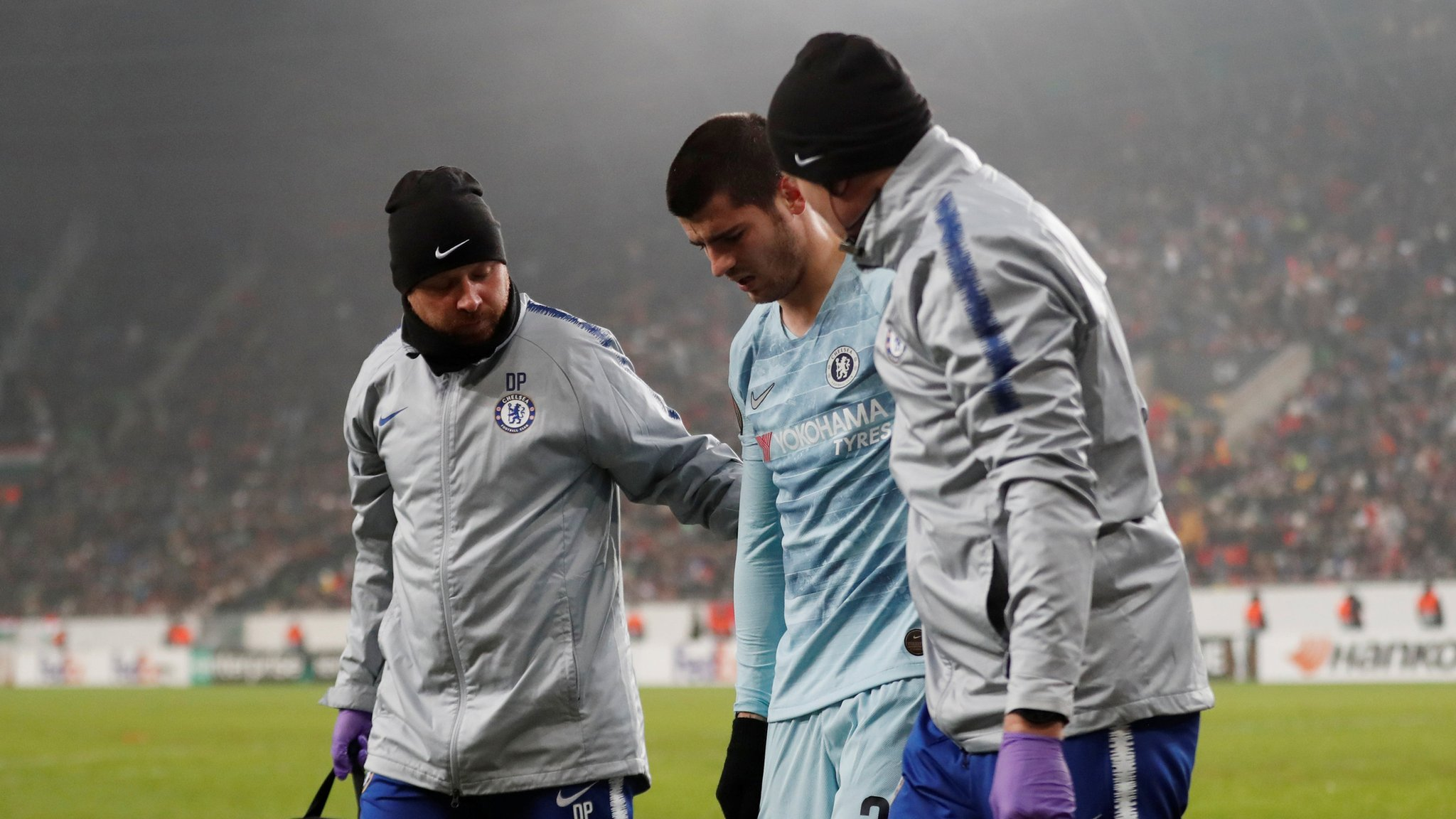 Chelsea draw 2-2 with MOL Vidi as Alvaro Morata injured