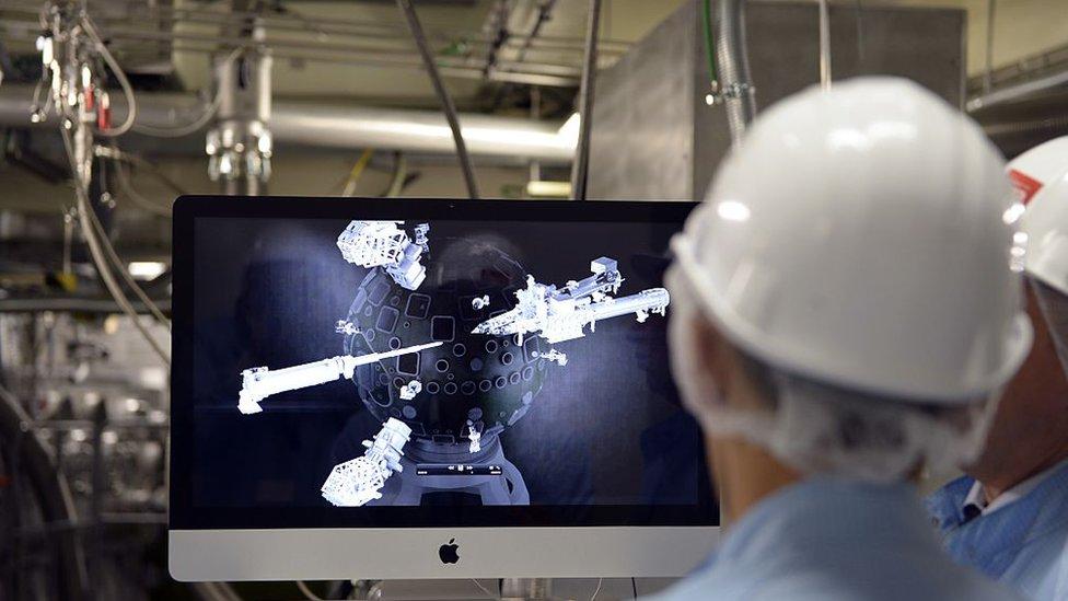 Imagen de un laboratorio de armas nucleares en Francia.