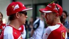 Kimi Raikkonen and Sebastian Vettel
