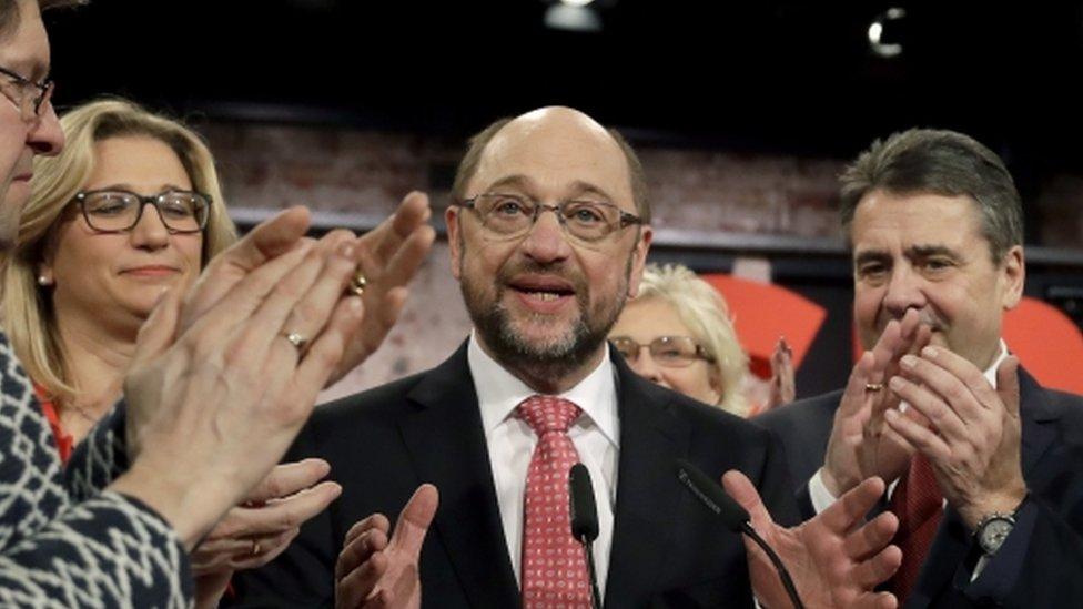 El recién elegido presidente del SPD y candidato a las elecciones, Martin Schulz