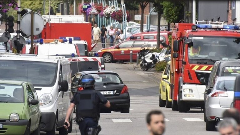 France church attack: Priest killed near Rouen