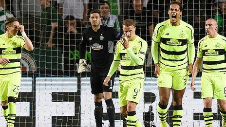 Celtic were beaten 2-0 by Malmo