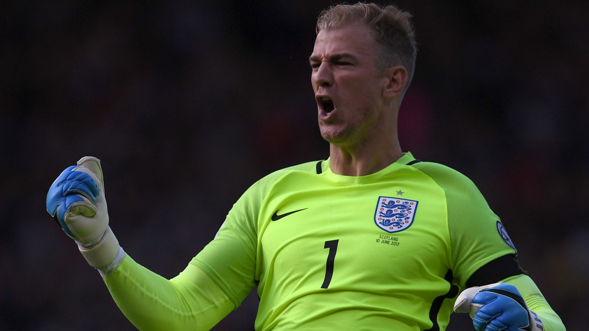 Joe Hart turns out for Shrewsbury Cricket Club during England's World Cup game