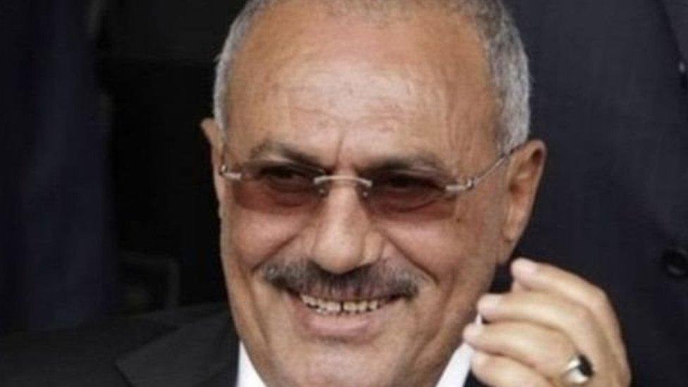 الرئيس اليمني علي عبد الله صالح قبل مقتله