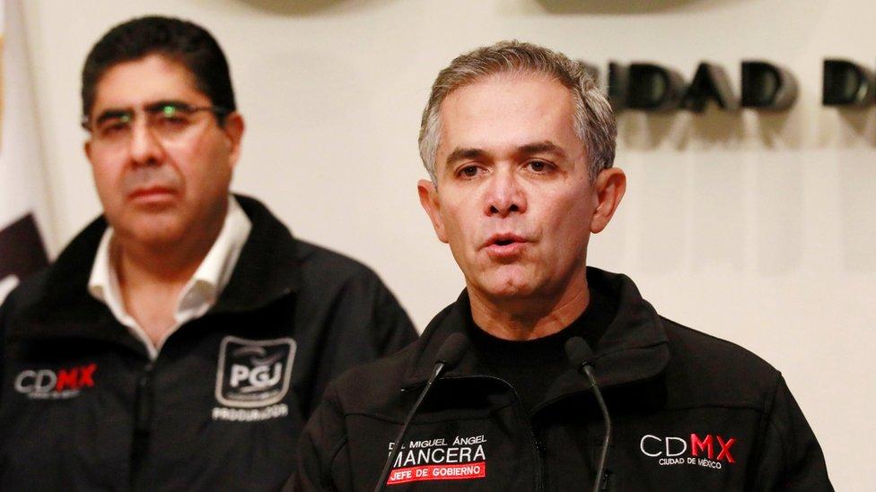 Miguel Ángel Mancera habla a la prensa