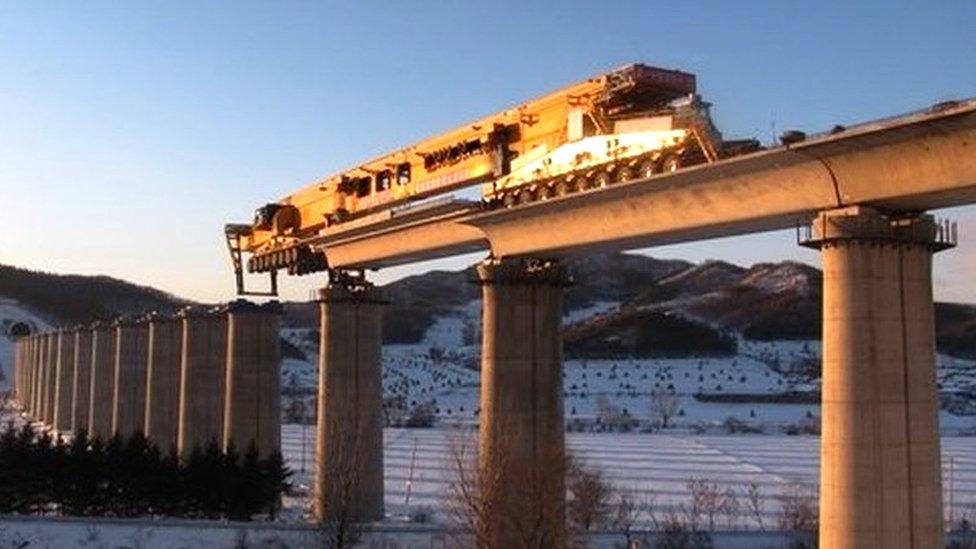 The mega-machines helping China link the world | BBC