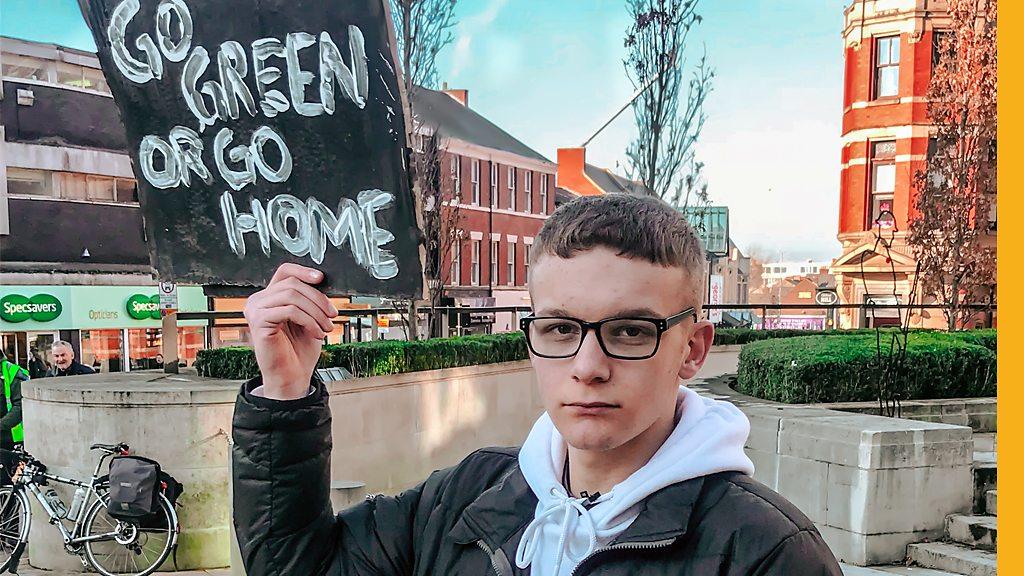Protesting climate change in Preston
