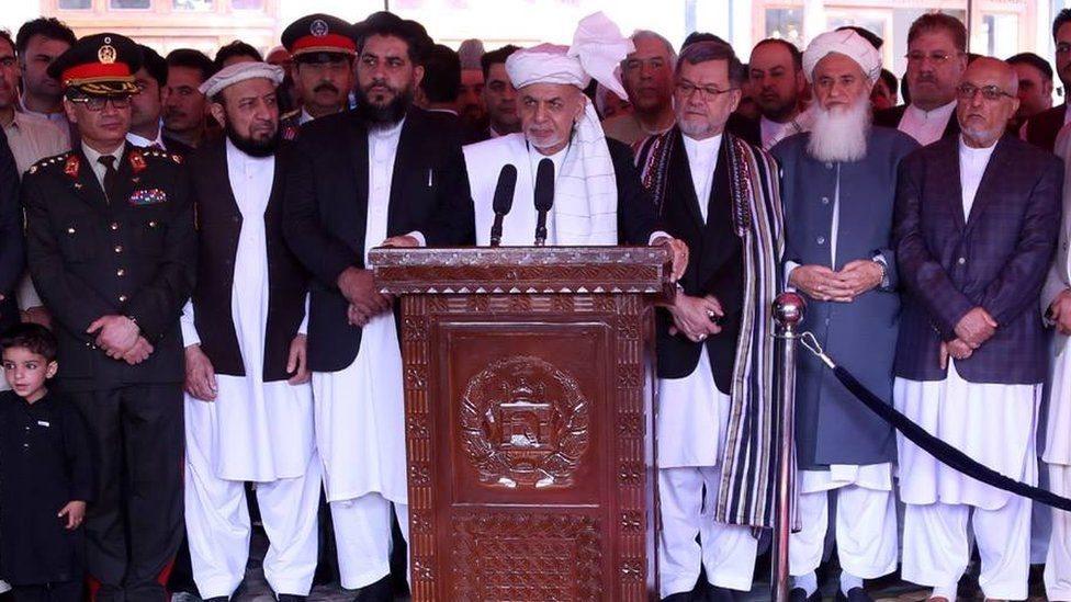 اشرف غني: د طالبانو لخوا د اوربند عملي کېدو هرکلی کوو