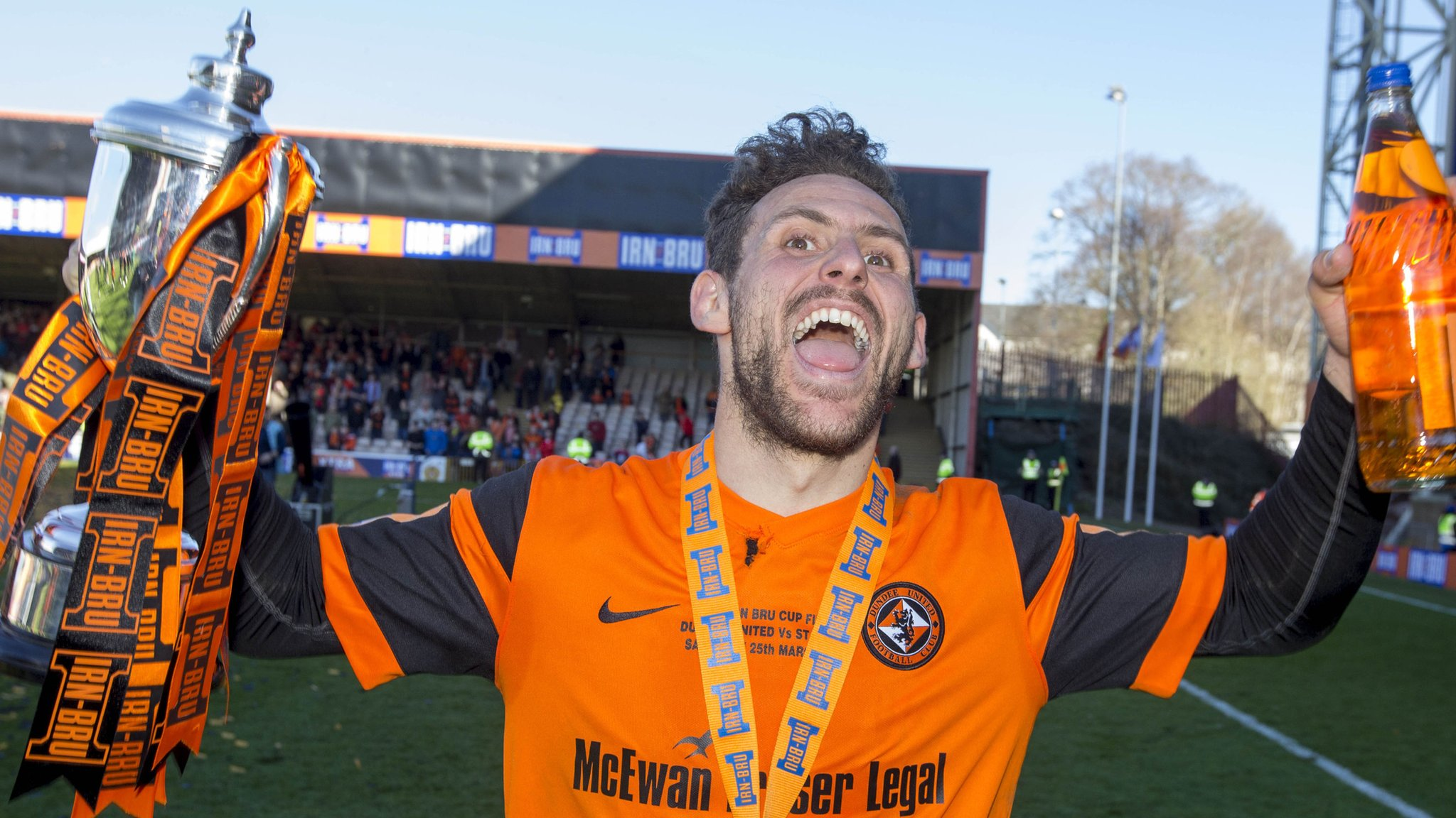 Dundee United lift the Challenge Cup with victory over St Mirren